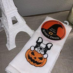 French Bulldog | Set of 2 Halloween 🎃Dish Towels